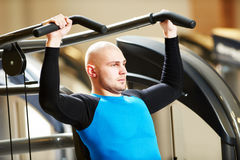 Bodybuiler man at gym have a fitness workout Royalty Free Stock Image