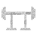 Bodybulding Word Cloud Concept. Vectore Stock Images