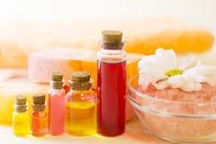 Bodycare και aromatherapy στοιχεία Στοκ φωτογραφία με δικαίωμα ελεύθερης χρήσης