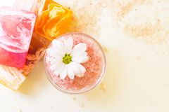 Bodycare και aromatherapy στοιχεία Στοκ Φωτογραφίες