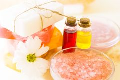 Bodycare και aromatherapy στοιχεία Στοκ φωτογραφίες με δικαίωμα ελεύθερης χρήσης