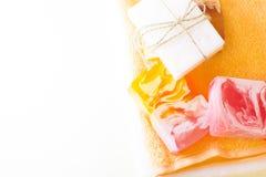 Bodycare και aromatherapy στοιχεία Στοκ Εικόνες