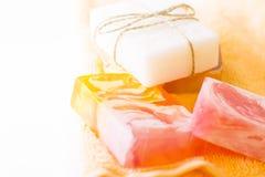 Bodycare και aromatherapy στοιχεία Στοκ Φωτογραφία
