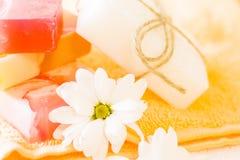 Bodycare και aromatherapy στοιχεία Στοκ Εικόνα