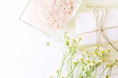 Bodycare και aromatherapy υπόβαθρο Στοκ φωτογραφία με δικαίωμα ελεύθερης χρήσης