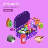 Bodycare Bag Isometric Royalty Free Stock Photography