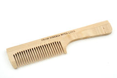 Bodycare hairbrush. Isolated Stock Image