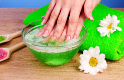 Bodycare of hands. Stock Image