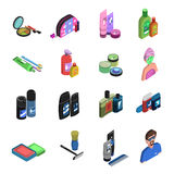 Bodycare Isometric Icon Set Stock Photo