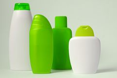 Bodycare items. Green for hygiene Stock Photo