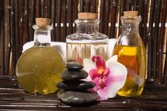 Bodycare massage items Stock Photo