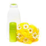 Bodycare product with daisy Royalty Free Stock Images