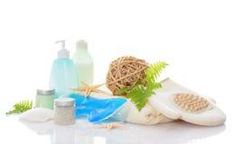 Bodycare Produkte Stockfoto