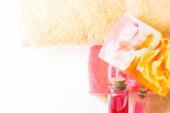 Bodycare and skincare items royalty free stock photography