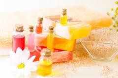 Bodycare und skincare Einzelteile lizenzfreies stockfoto
