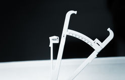 Bodyfat fat calipers Royalty Free Stock Image
