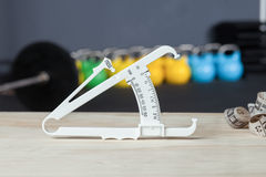 Bodyfat measurement device - crossfit studio Royalty Free Stock Photo