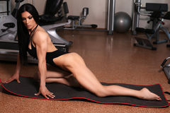 Bodyfitness medalist of world ladies cup training in gym Stock Photography