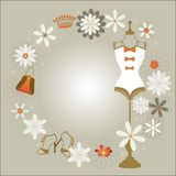 Bodyform with accessories and flowers Stock Photography