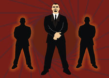 Bodyguard. Vector illustrations of a bodyguard Royalty Free Stock Photo