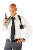Bodyguard. The young man with a pistol Stock Photo