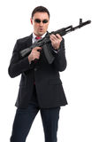 Bodyguard with automatic rifle Stock Image