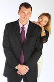 The bodyguard of the business woman Stock Images
