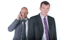 The bodyguard of the businessman stock photos