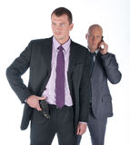 The bodyguard of the businessman royalty free stock photos