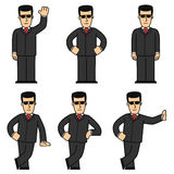 Bodyguard character set 01 Royalty Free Stock Photography