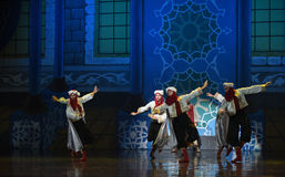 """Bodyguard dance- ballet """"One Thousand and One Nights"""". Ballet One Thousand and One Nights is based on the fairy tale with the same name in the Arabic royalty free stock photo"""