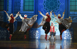 """Bodyguard dance- ballet """"One Thousand and One Nights"""" Royalty Free Stock Images"""