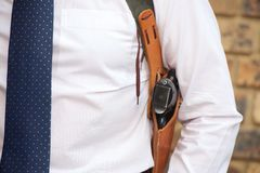 Bodyguard with gun Royalty Free Stock Images