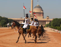 Bodyguard - Indiens Präsidenten Lizenzfreie Stockbilder
