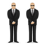 Bodyguard stands in closed pose Stock Image