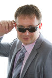 Bodyguard in sunglasses and elegant suit Royalty Free Stock Photo