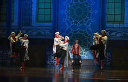 """Bodyguard team- ballet """"One Thousand and One Nights"""" Royalty Free Stock Photos"""