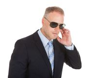 Bodyguard wearing sunglasses Stock Photography