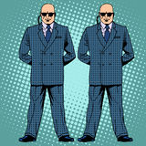 Bodyguards cordon protection secret service agents Stock Photo