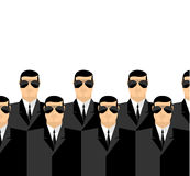 Bodyguards in dark suits and dark glasses. Secret Service agents Stock Images