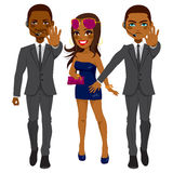 Bodyguards Protecting Singer Stock Images