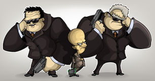 Bodyguards tycoon Stock Images