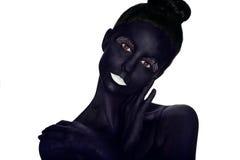Bodypainted model zdjęcie royalty free