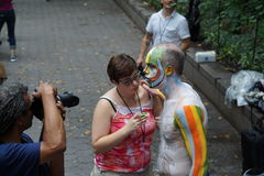 Bodypainting Day NYC 2015 2 Royalty Free Stock Photo