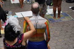 Bodypainting Day NYC 2015 45 Stock Photography
