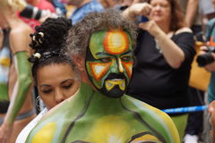 Bodypainting Day NYC 2015 65 Stock Images