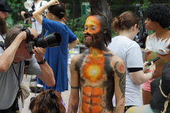 Bodypainting Day NYC 2015 67 Royalty Free Stock Photography
