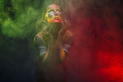 Bodypainting. Woman painted with ethnic patterns Royalty Free Stock Images