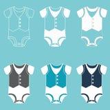 Bodysuit for a boy. Icon set children`s clothes for newborn baby boy. Bodysuit for a boy. Vector illustration Royalty Free Stock Photo