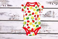 Bodysuit dainty дизайна младенца мягкий Стоковое Фото